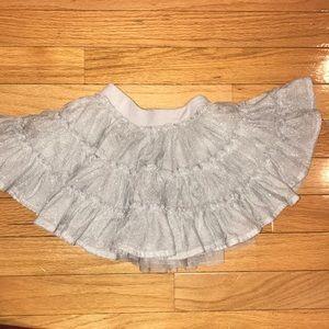 Old Navy Silver Twirl Skirt Tutu Sparkle Princess